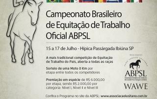 III Etapa de Equitação de Trabalho Oficial ABPSL